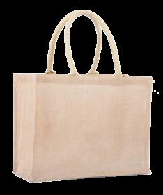 Jute Tasche kompakt lange Henkel Produktbild