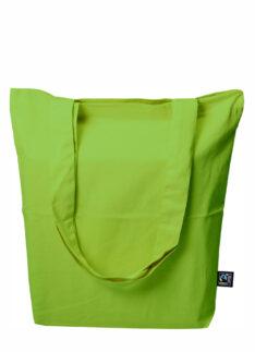 Fairtrade Tasche aus Twill mit Bodenfalte Produktbild