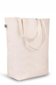 Fairtrade Canvas Shopper mit Bodenfalte Produktbild