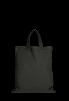 Jutebeutel mittelgroß schwarz Produktbild