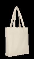 Shopper mit Boden- und Seitenfalte