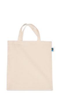 Fairtrade Jutebeutel mit kurzen Henkeln Produktbild